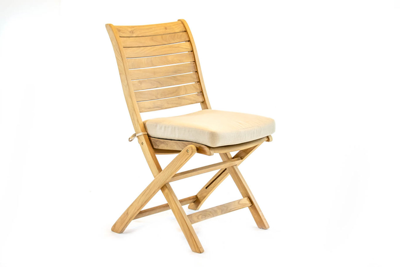 Scancom Palu Teak Palu Folding Chair With Cushion